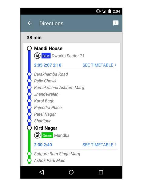 direction metro